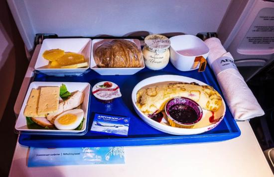 Питание в самолете Аэрофлот