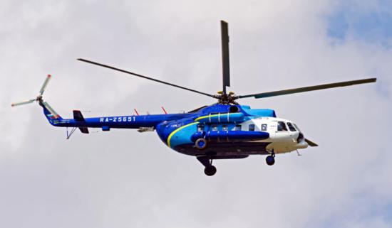 Рейсовый вертолет компании Восток
