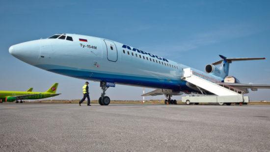 Самолет авиакомпании Алроса