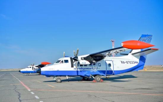 Самолет авиакомпании Оренбуржье