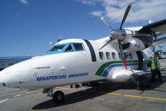 Самолет авиакомпании Хабаровские авиалинии
