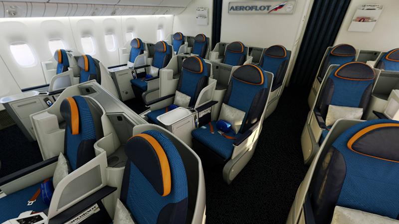 Бизнес-класс Boeing 777-300 Россия