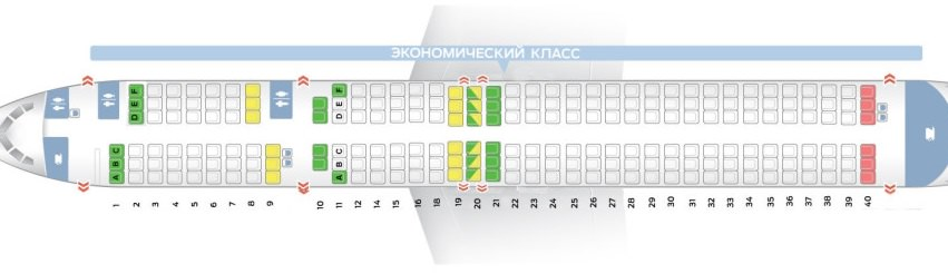 Боинг 757-200: схема салона, лучшие места.