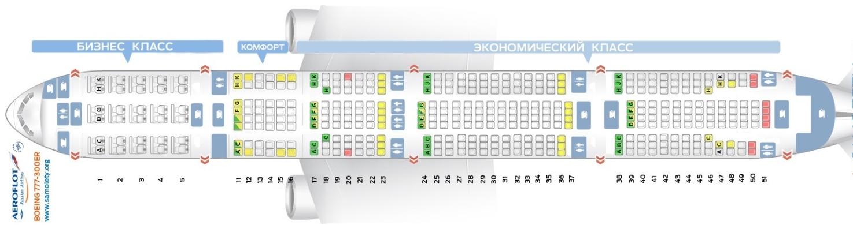 Схема салона Боинг 777-300