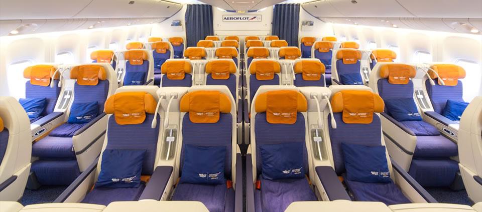 Эконом класс Боинга 777-300 Аэрофлот