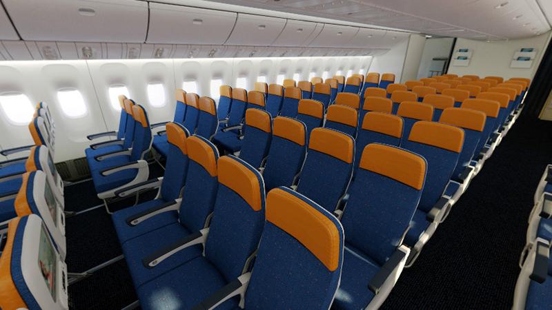 Места в эконом-классе Boeing 777-300 Россия