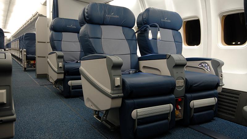 Салон самолета Боинг 757-200 Вим-Авиа