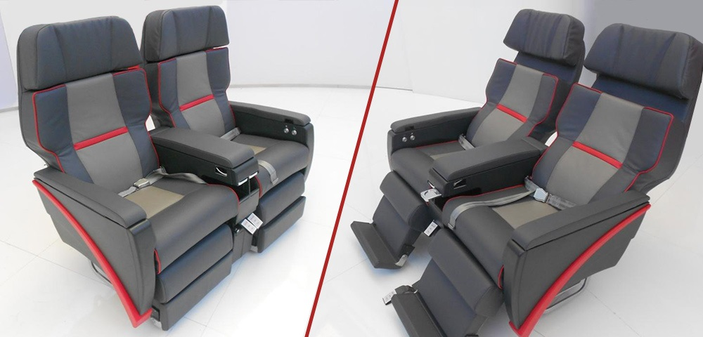 Кресла в самолете Boeing 777-200 Nordwind