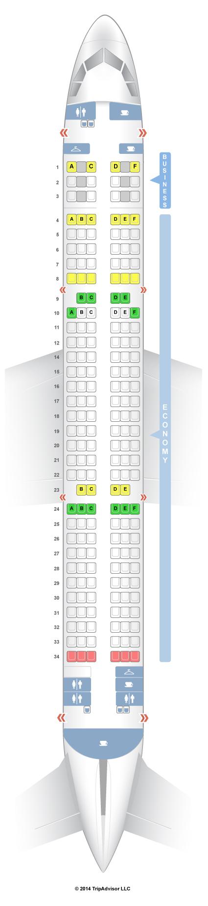 Схема салона Airbus А321