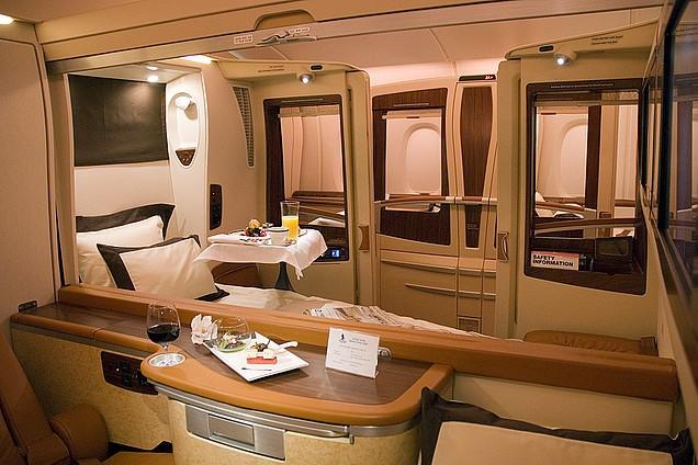 Первый класс Singapore Airlines Airbus А380
