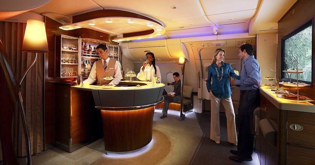 Зона отдыха Лаунж «Эмирейтс» Airbus А380