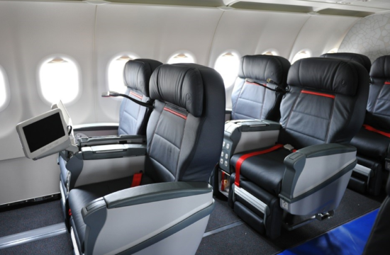 Вариант бизнес-класса в Аэробусе А321 Turkish Airlines
