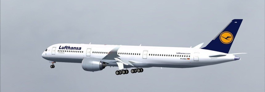 Самолет Airbus A350-900 Lufthansa
