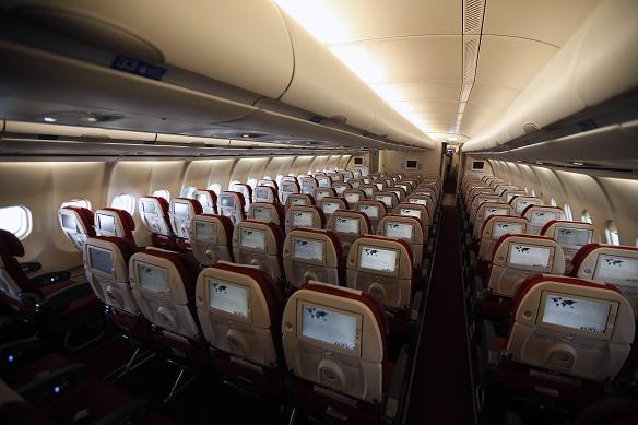 Эконом-класс самолета авиакомпании Azal