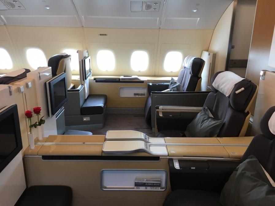 Места первого класса Lufthansa