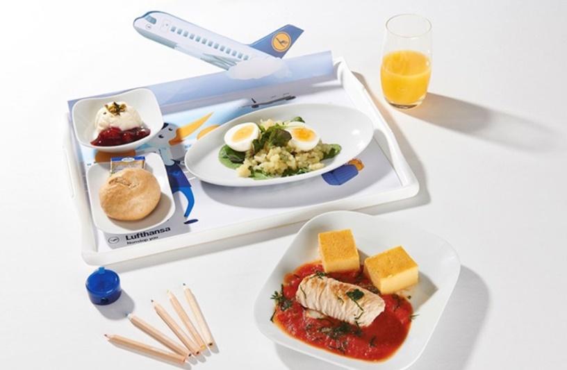 Детское меню в авиакомпании «Люфтганза»