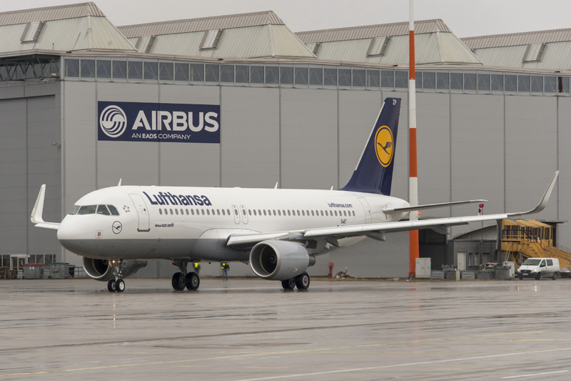 Самолет Airbus A320neo Lufthansa