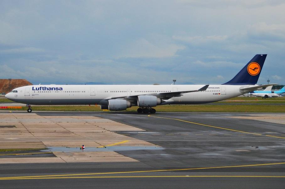 Самолет Airbus A340-600 Lufthansa