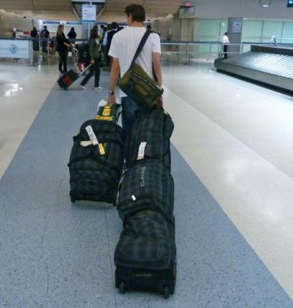 Спортинвентарь в багаже самолета