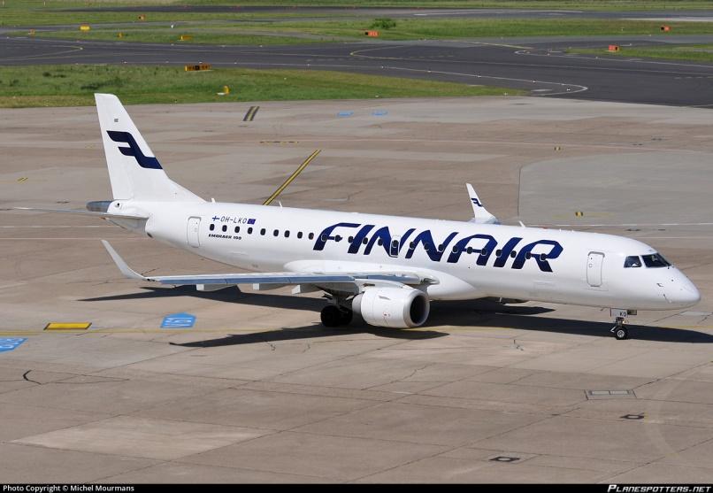 Embraer E-190 авиакомпании Finnair