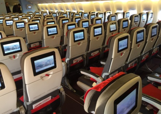 "Салон эконом-класса ""Austrian Airlines"""
