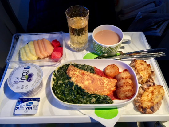 "Меню в бизнес-классе ""Finnair"""