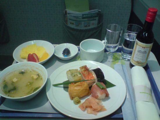 корейские авиалинии улучшенное питание