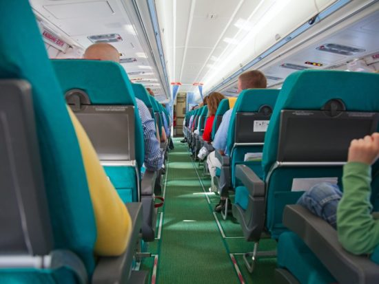 проход в самолете