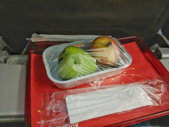 Вегетарианское блюдо для пассажира