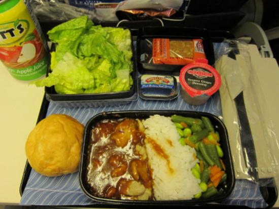 UNITED AIRLINES: питание в эконом
