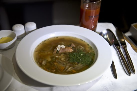 Свежий суп для пассажиров
