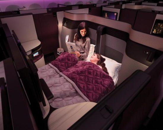 Qatar Airways: сон на борту