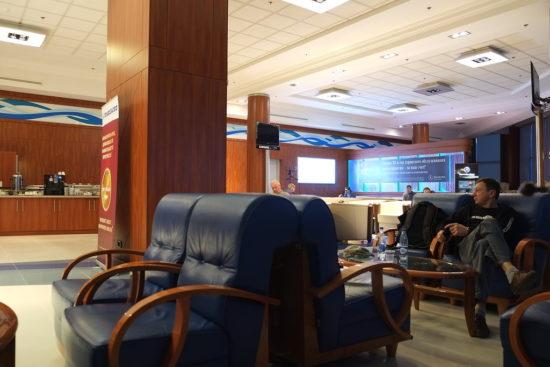 Лаунж-зона для пассажиров бизнес-класса в Трансаэро