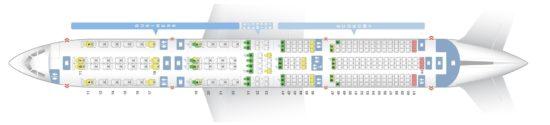 Схема салона на «Сингапурских авиалиниях»