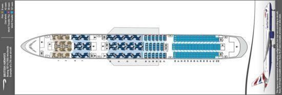 Схема салона Boeing Dreamliner