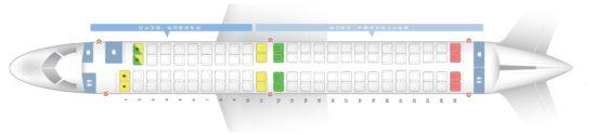 Схема салона E-190 на British Airways