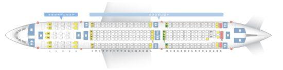 Схема расположения кресел на рейсах компании «Аэрофлот»