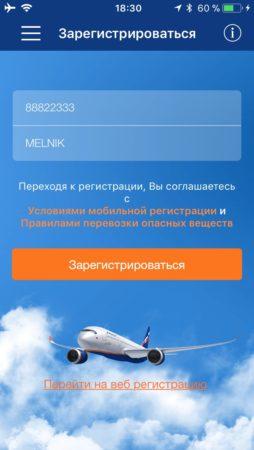 Как оформить полет через мобильное приложение по билету