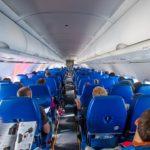Пассажирский салон самолета Аэрофлот