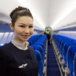 Салон самолета Газпром Авиа
