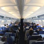 Салон самолета Боинг-737-400 авиакомпании Ямал
