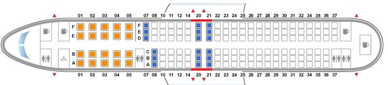 Боинг 767 300 схема салона nord wind