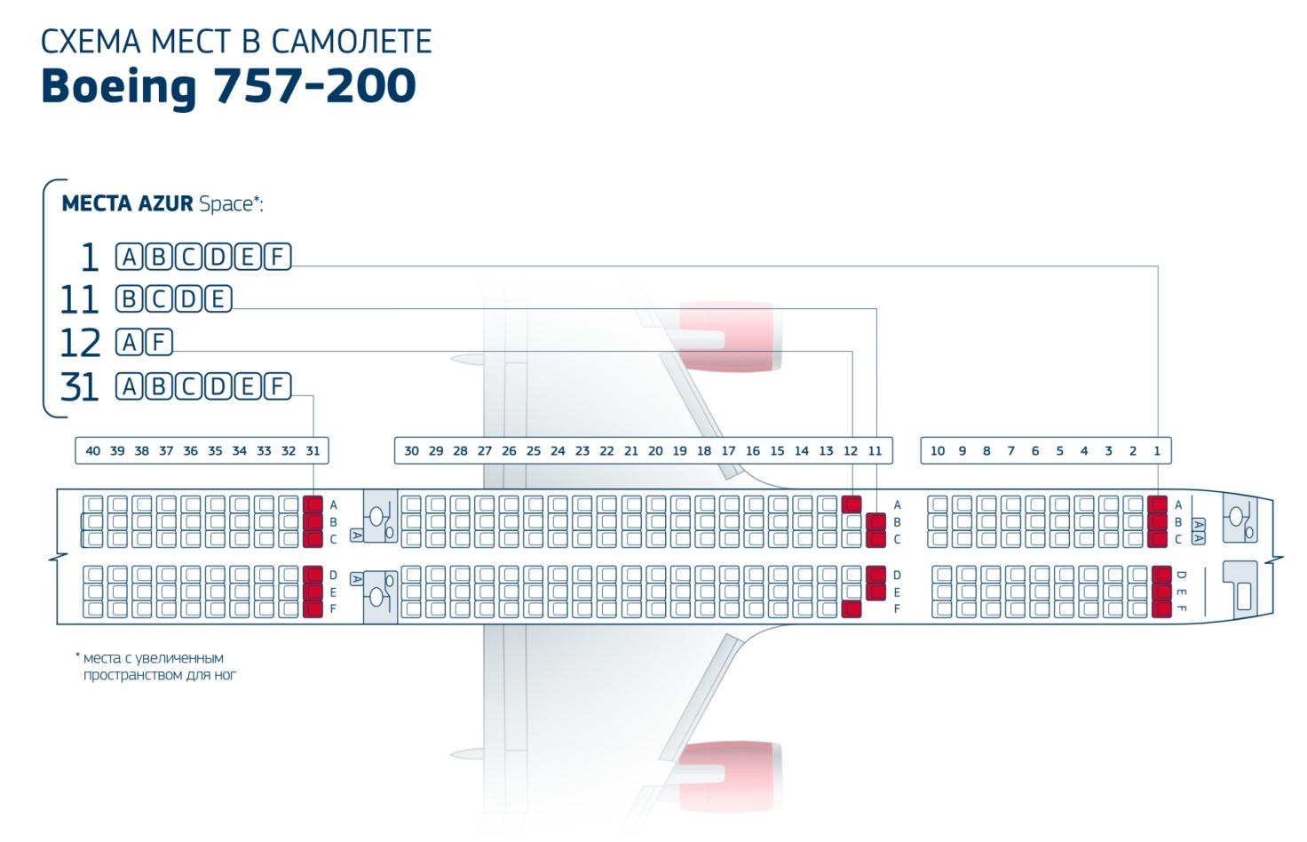 Боинг 757-200 — схема салона и лучшие места роял флайт.