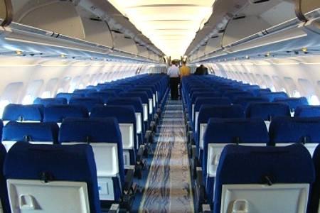 Фото пассажирского салона эконом-класса Аэробуса А321