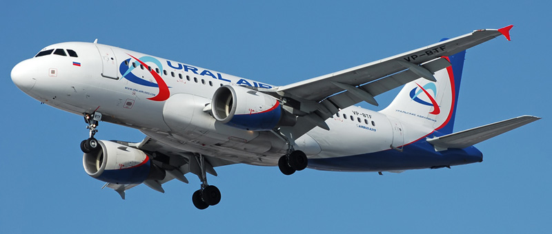 Airbus industrie a321 уральские авиалинии: схема салона.