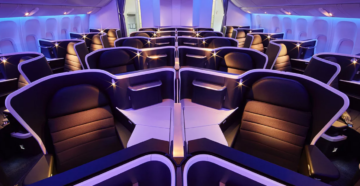 Салон самолета Flydubai фото